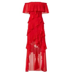 Badgley Mischka Reds Dress Size 2